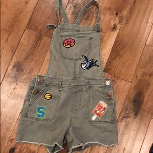 Girls overalls shorts
